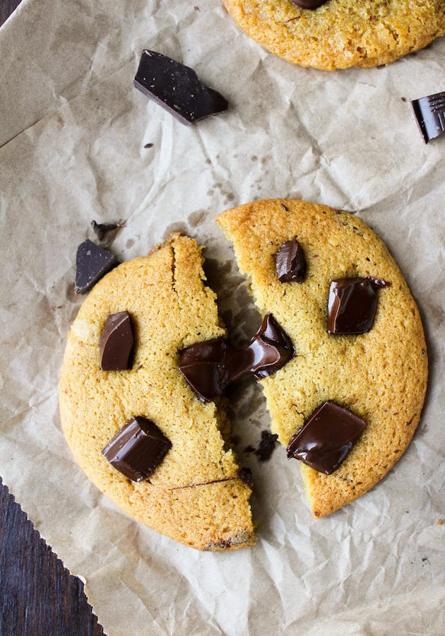 Chocolate Chunk Chickpea Flour Cookies