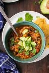 Instant Pot Chicken Enchilada Soup (Crock Pot Option)