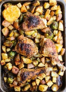 One Pan Chicken with Lemon and Sprouts