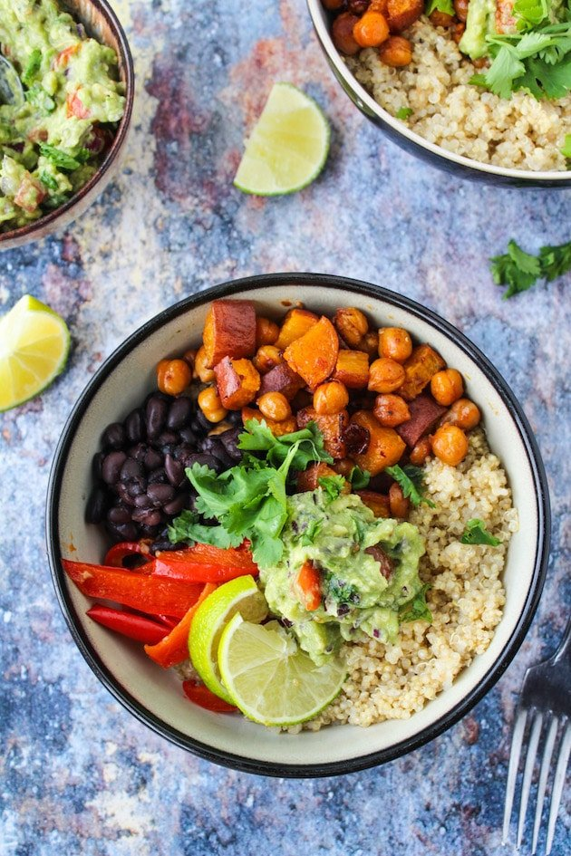 Chipotle Chickpea Burrito Bowls