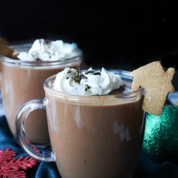 Coconut Milk Gingerbread Hot Chocolate