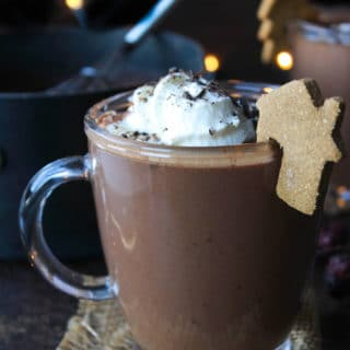 Coconut Milk Gingerbread Hot Chocolate