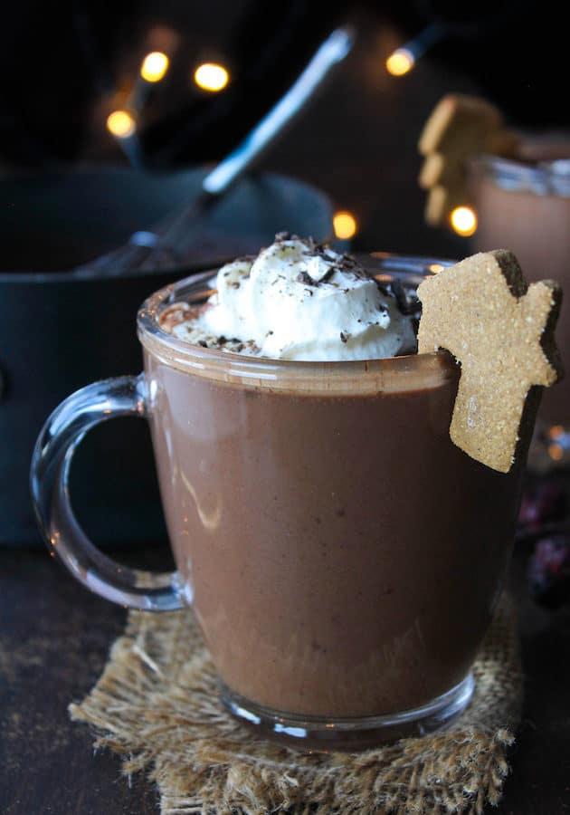 Gingerbread Vegan Hot Chocolate