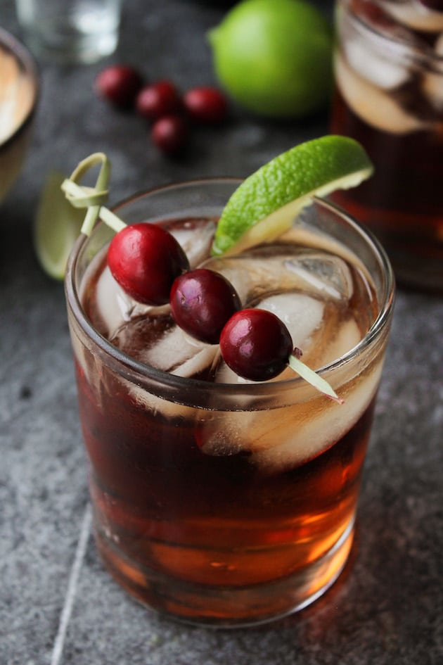 Cranberry Crush Cocktail - fresh and fiery with just the right amount of sweet and tart