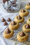 Gluten Free Peanut Butter Blossom - a holiday must made grain free using chickpea flour