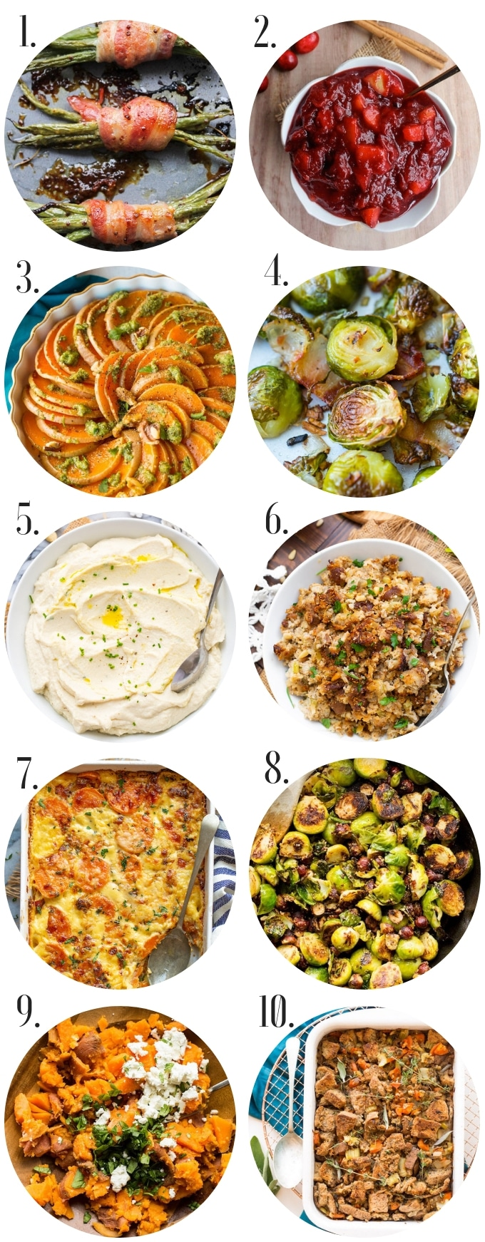 healthy gluten free recipes sides collage