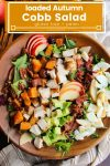 loaded autumn cobb salad pin graphic
