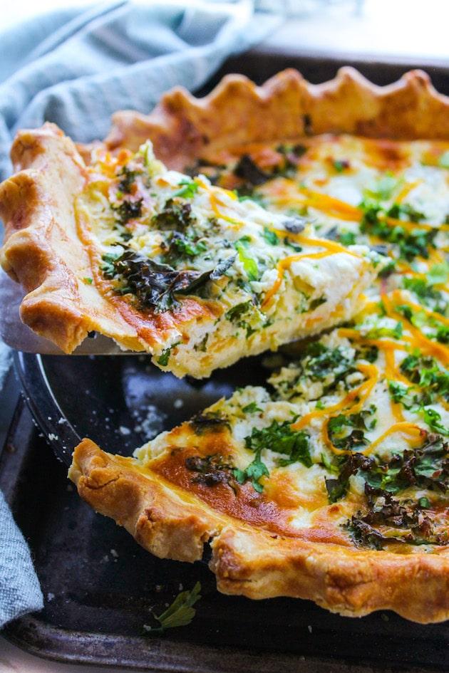 recipe: butternut squash crust quiche [21]