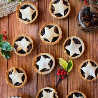 Paleo Vegan Mince Pies with a Gingerbread Crust