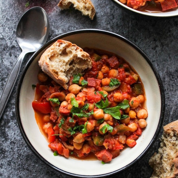 Spanish Chickpea Chorizo Stew