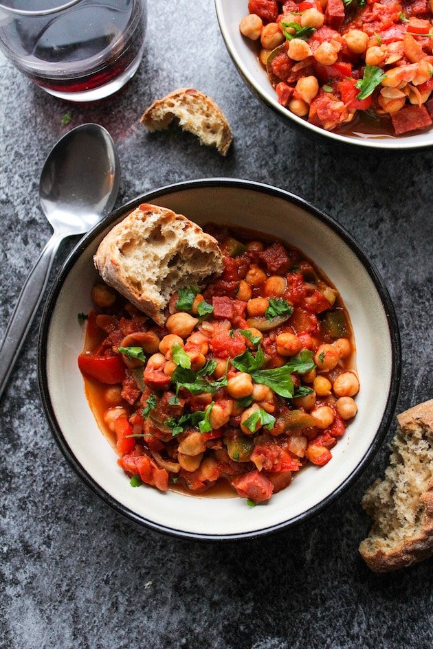 Spanish Chickpea Chorizo Stew