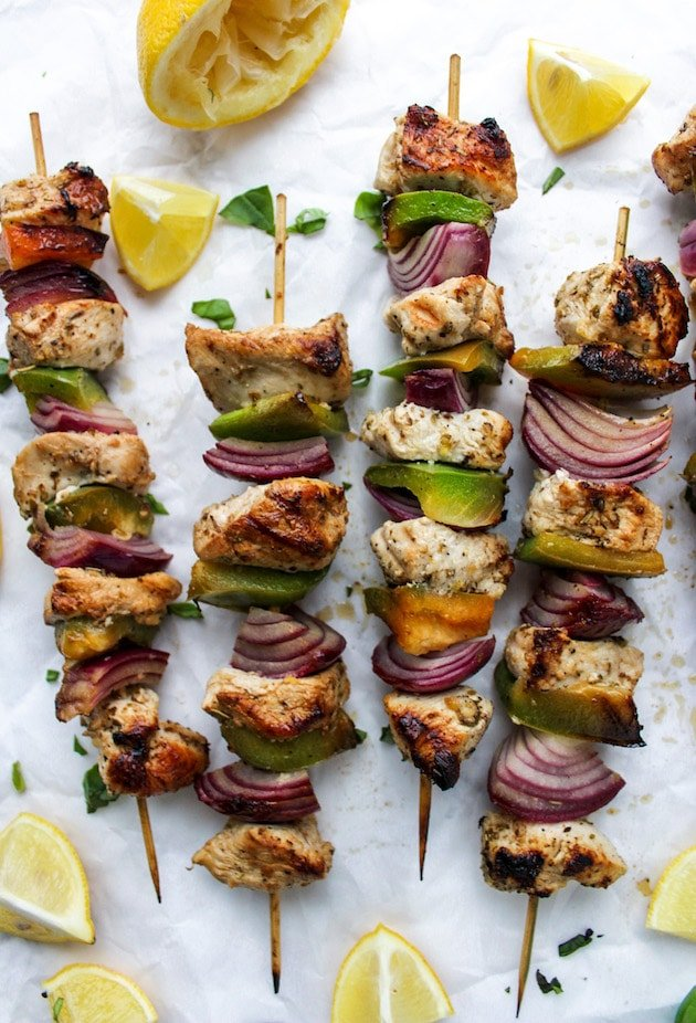 Greek Lemon Chicken Kebabs
