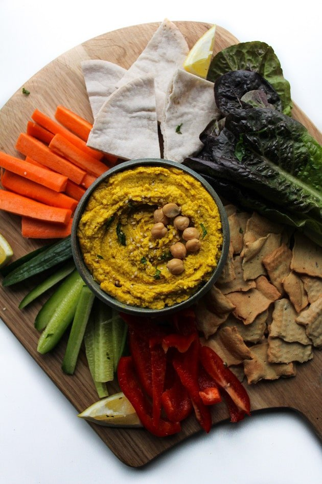 Ginger and Turmeric Hummus