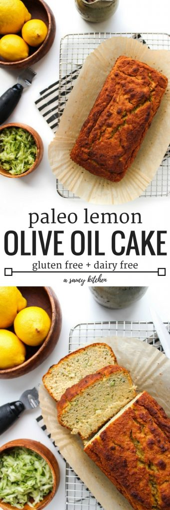 One bowl paleo lemon olive oil cake pin graphic