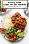 paleo sweet potato waffles pin
