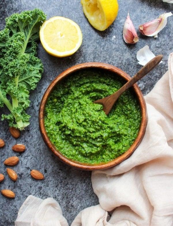 Paleo Vegan Kale Pesto