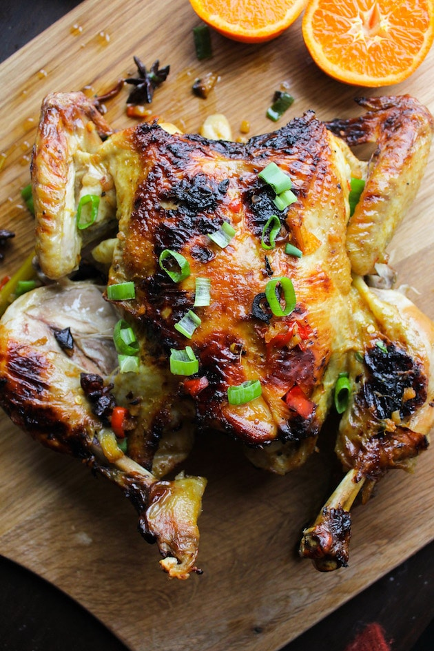 Easy Vietnamese Chicken Roast with orange, garlic, ginger, chilli & crushed lemongrass - prepared in a pinch and incredibly flavourful!