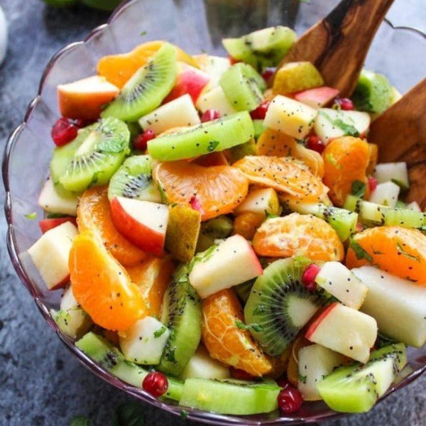 winter fruit salad in a bowl