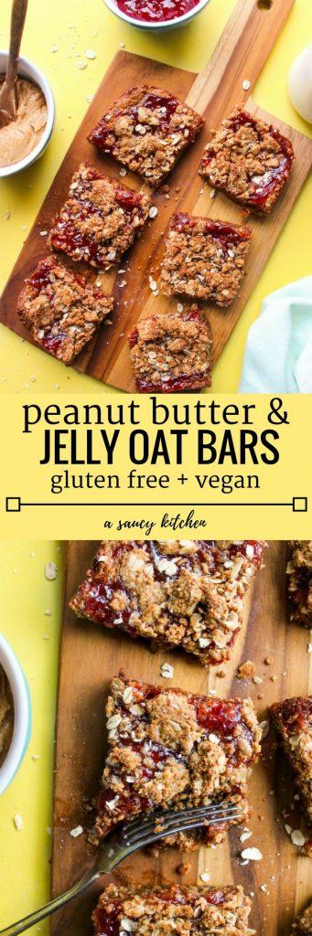 Oatty Peanut Butter & Jelly Bars