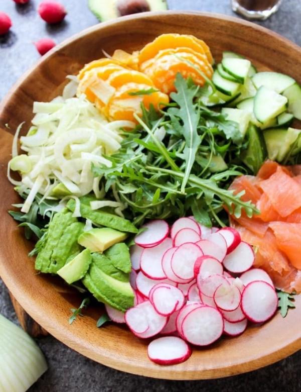 Arugula Fennel & Smoked Salmon Salad