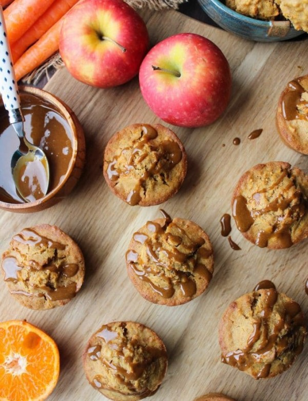 Carrot Apple Muffins with Flaxseed