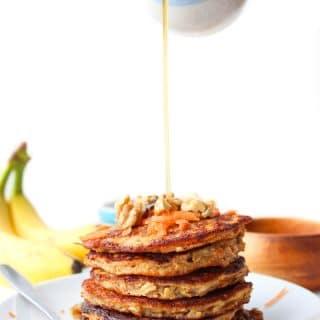Flourless Carrot Banana Pancakes