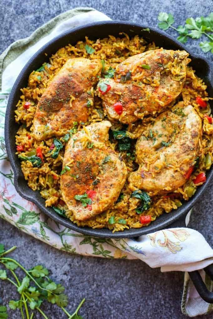 One Pot Low Fodmap Chicken And Rice Khichdi Inspired A Saucy Kitchen