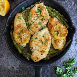 Paleo Lemon Chicken with Asparagus