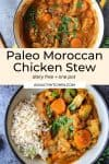 Paleo Moroccan Chicken Stew pin graphic