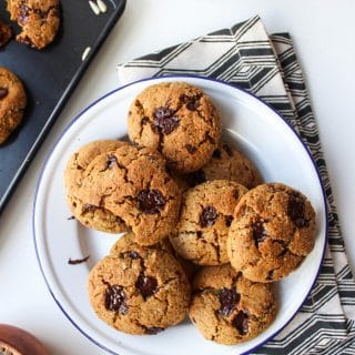 Sunflower Seed Paleo Chocolate Chip Cookies