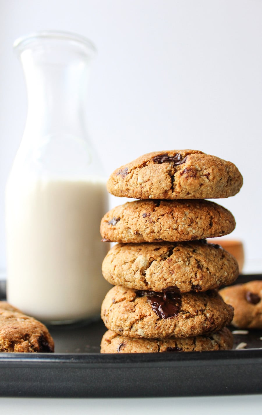 Sunflower Seed Paleo Chocolate Chip Cookies - nut free, dairy free, with egg free options
