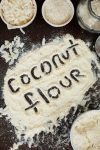 coconut flour with coconut flour spelled out in it