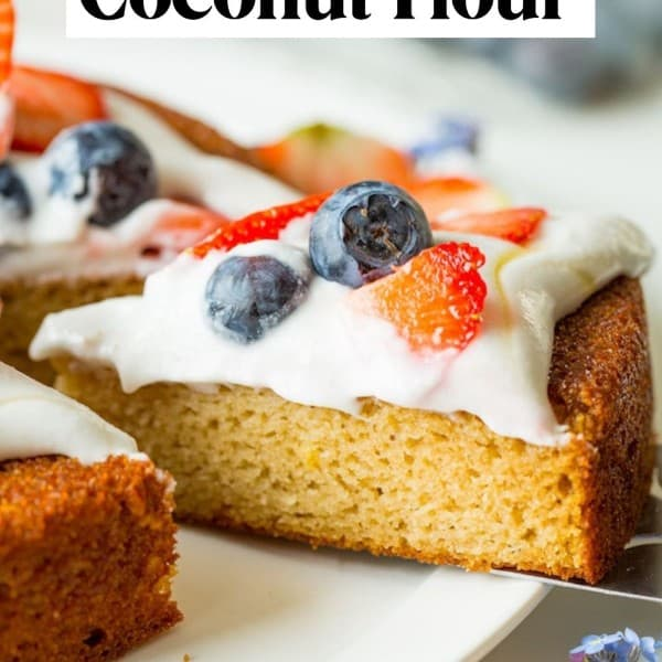 how to bake with coconut flour pin graphic