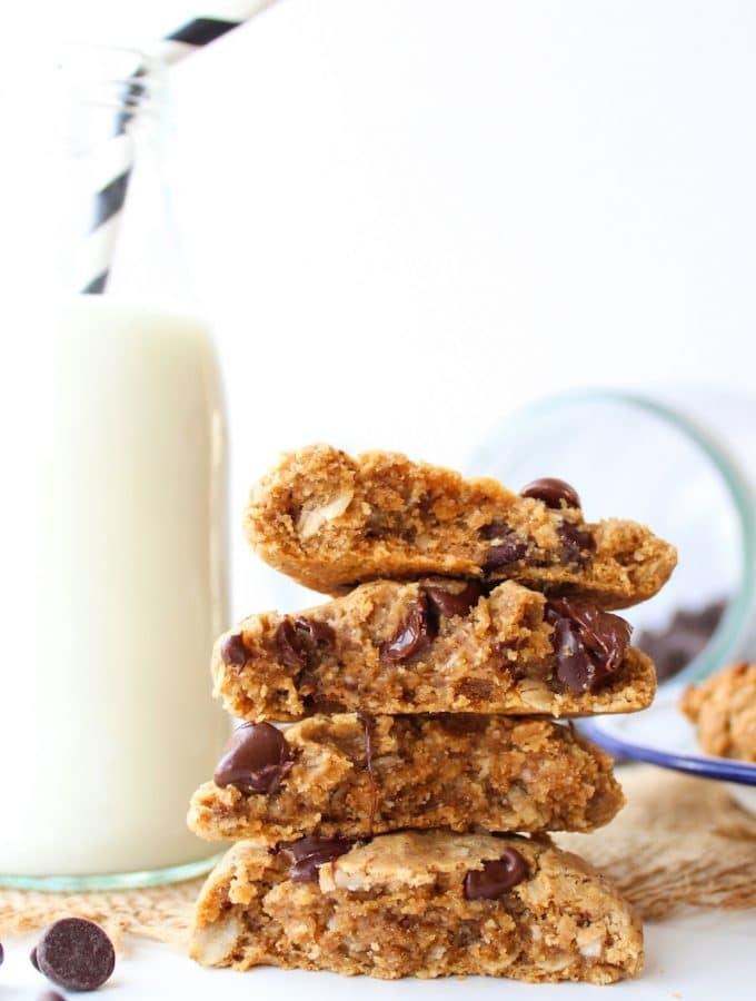 Flourless Peanut Butter Oat Cookies