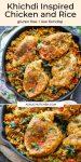 Khichdi Inspired Chicken and Rice pin graphic