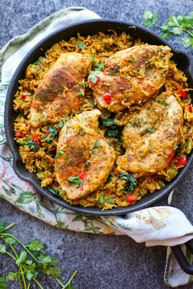 One Pot Low FODMAP Chicken and Rice (Khichdi Inspired)