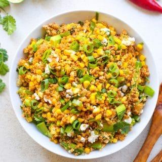 Southwest Avocado Quinoa Corn Salad