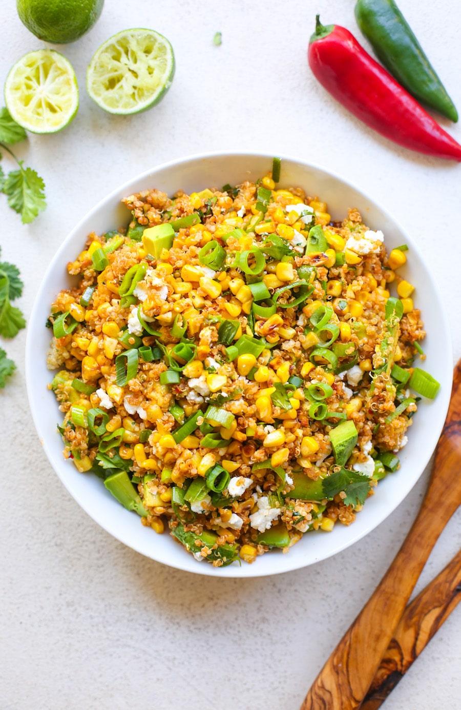 Southwest Avocado Quinoa Corn Salad - the perfect summer salad to bring to BBQ's & potlucks   Gluten Free + Vegetarian