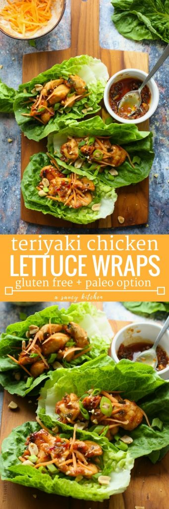 Teriyaki Chicken Lettuce Wraps Long Pin Graphic