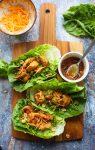 Teriyaki Chicken Lettuce Wraps (Paleo Option)