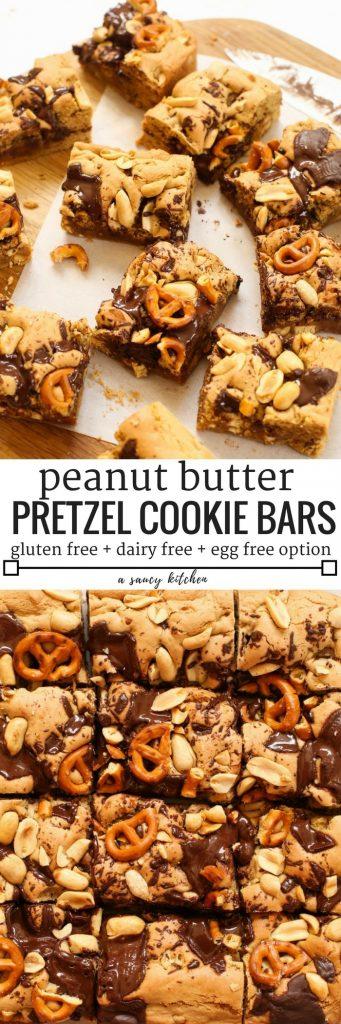Peanut Butter Pretzel Cookie Bars