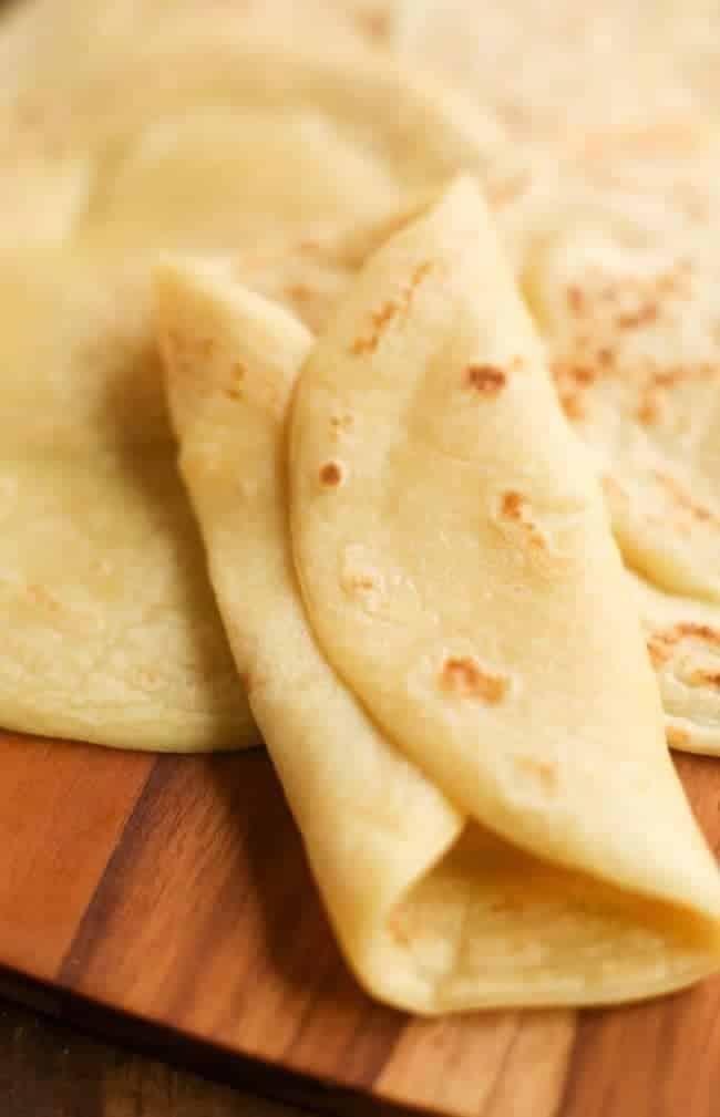 folded up grain free tortilla