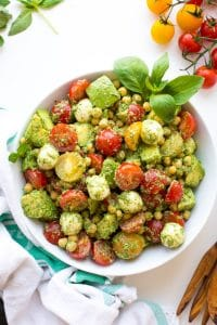 Avocado Chickpea Pesto Salad