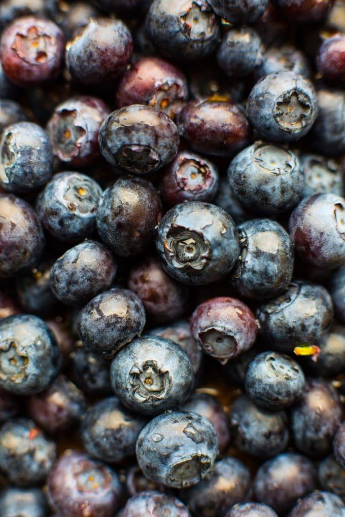 Vegan Gluten Free Blueberry Scones - Blueberries Close up