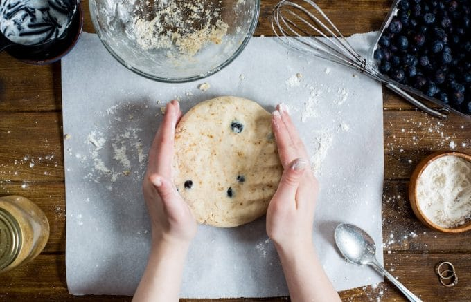 Vegan Gluten Free Blueberry Scones Dough