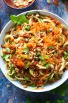 Raw Peanut Zoodle Salad