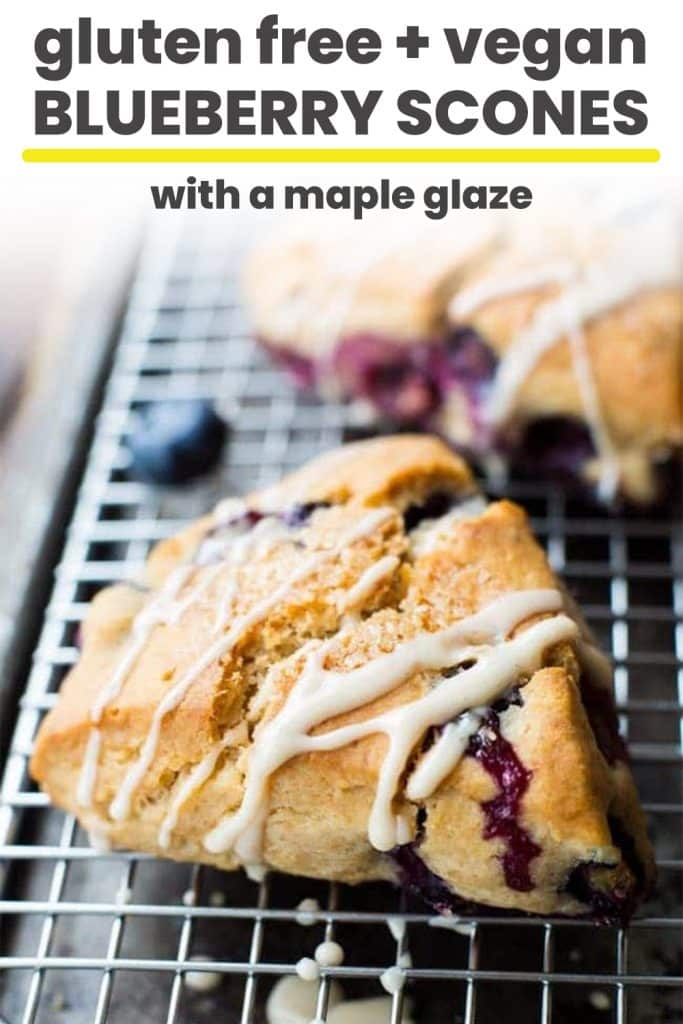 gluten free blueberry scones pin graphic