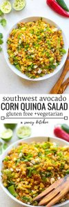 Southwest Avocado Quinoa Corn Salad - the perfect summer salad to bring to BBQ's & potlucks | Gluten Free + Vegetarian