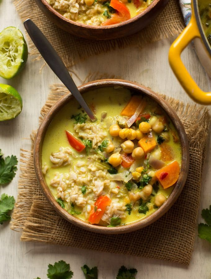 Chickpea Lime & Coconut Soup
