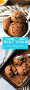 5 ingredient, no churn Chocolate Coconut Milk Ice Cream – rich, creamy & easy to make! Gluten Free + Vegan + Paleo